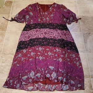 Roz & Ali cottage core double layer dress